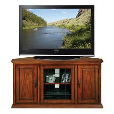 Burnished Oak 50-inch TV Stand and Media Corner Console Shop - On