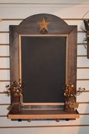 rustic star primitive chalkboard kitchen wall decorations