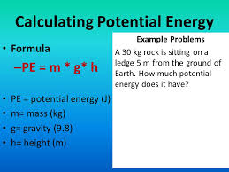 7 calculating potential energy