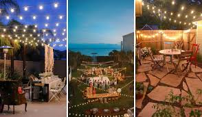 outdoor strand lighting. are you often recalling those breathtaking string lights shining in a memorable outdoor party so why not use them to decorate your patio strand lighting o