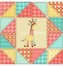 Giraffe quilt pattern vector - by nad_o on VectorStock® | Quilts ... & Giraffe quilt pattern vector - by nad_o on VectorStock® | Quilts - Baby |  Pinterest | Giraffe, Quilt patterns free and Patterns Adamdwight.com