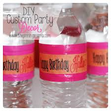 Creative diy personalized water bottle ideas Glitter Quick And Easy Diy Party Decor By Wwwthepinningmamacom The Pinning Mama Diy Party Decor Ideas The Pinning Mama