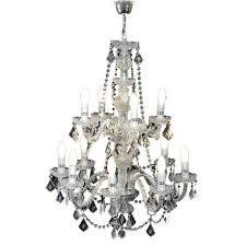 bright star lighting 12 light crystal chandelier silver