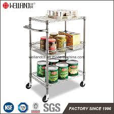 china nsf 3 tiers chrome metal kitchen trolley rolling cart utility cart china kitchen trolley meal kitchen trolley