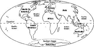 Small Picture Map Coloring Pages Continents Circle World Page vonsurroquen