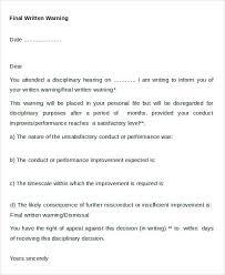 Letters Of Appeal Written Warning Letters Appeal Letter Template Sample Thekingsway Co