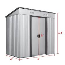astonishing 4 x 6 garden shed storage kit diy backyard metal building doors metal