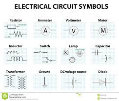 common circuit diagram symbols stock vector image  common circuit diagram symbols
