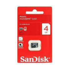 SanDisk 4 GB Micro SD HC Hafıza Kartı