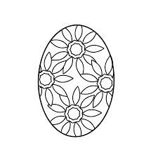Easter Egg Coloring Page Flowered Yooall