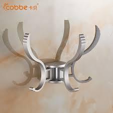 Silver Wall Coat Rack Modern GoldSilver Coat Hanger Wall Mount Aluminum Bathroom 57