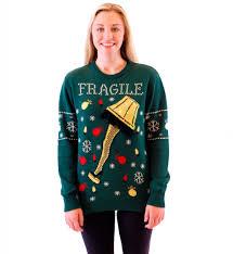 Light Up Christmas Sweater Kids Fragile Leg Lamp Christmas Sweater Ugly Christmas Sweaters