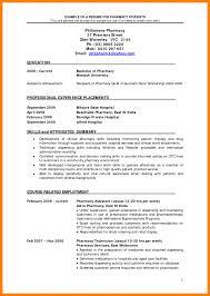 Cv For Pharmacist Childcare Resume Hospital Template Pharmacy