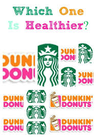 Dunkin Donuts Nutritional Value Chart Comparing The Nutritional Value Of Starbucks And Dunkin