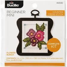Bucilla To Dmc Floss Conversion Chart Bucilla Counted Cross Stitch Beginner Flower Bunch