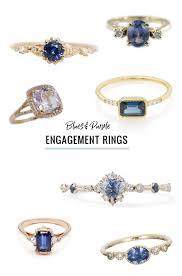 alternative to wedding ring. blue \u0026 purple engagement rings alternative to wedding ring