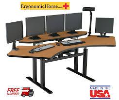 Ergonomic Computer Desk Corner Computer Desk Sit Stand Desk Control Room Console