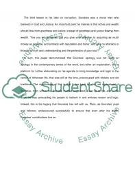 three important lessons plato s apology essay example topics   text preview