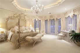 luxury master bedroom. luxury parisian style master bedroom with beautiful decor canopy bed and chandelier r