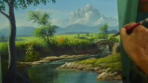 acrylic landscape painting lesson river to the bridge in step by step tutorial by jm lisondra you
