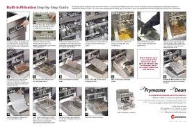 frymaster product filtration step by step guide