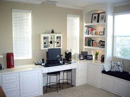 custom home office cabinets. Excellent Custom Home Office Desk Finished In White Lacquer With Bookshelves And Window Seat Layout Desks Brisbane Cabinets N