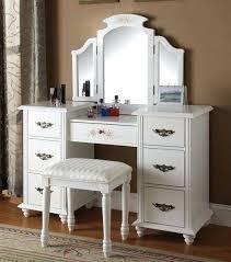 glass vanity set white wood sets w mirror milk
