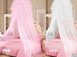 White or Pink Bed Canopy