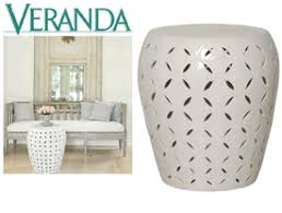 ceramic garden stool. Limited Stock: Large White Pierced Round Stool / Side Table * 22 X 19 Inches Ceramic Garden S