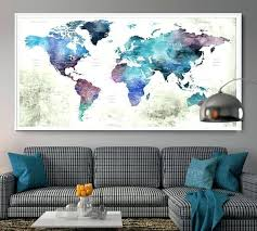 world map wall art push pin world map poster print world map wall art world map world map wall
