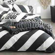 100 cotton black white diagonal stripe