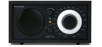table radio. tivoli model one am/fm table radio - black /