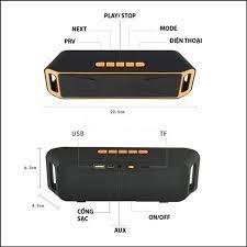Loa Nghe Nhạc Bluetooth Mini S208 Âm Lượng Khủng PIn Trâu Đỉnh Cao Thưởng  Thức Âm Nhạc