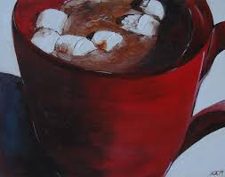 hot chocolate painting. Simple Painting Winter Painting  Red Hot Chocolate By Laura Leigh McCall In Fine Art America