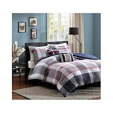 grey plaid comforter. Perfect Comforter Red Blue Grey Plaid Comforter Boys Teen Bedding Set Pillow Twintwin Xl With A
