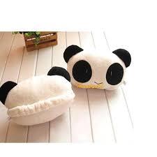 Cute Cartoon Panda Plush Auto Waist <b>Cushion</b> Car Seat Neck Rest ...