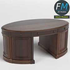 desk in the oval office. Simple Desk Oval Office Executive Desk 3D Model For In The M