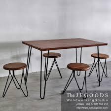 industrial antique furniture. Set-bar-stool-cafe-table-industrial-vintage-kayu-besi-furniture-jepara-goods Industrial Antique Furniture 6