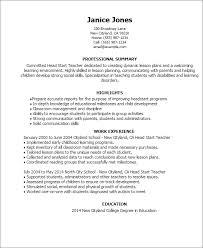 resume templates head start teacher child development resume