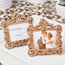 rose gold baroque style frame
