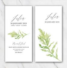Green Leaf Birth Announcement Template » Temploola.com