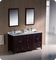 Fresca Oxford Collection 60 Mahogany Traditional Double Sink