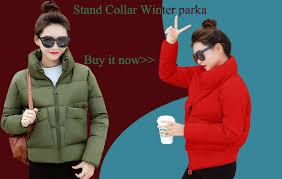Hooded Stand Collar <b>Ladies Winter</b> Jacket <b>Women</b> Short <b>2019 New</b> ...