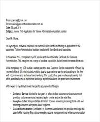 Formal Email Cover Letter Example