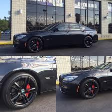 BMW 3 Series white 750 bmw : Bmw 750 satin black powder coated m sport wheels. #bmw #750li ...