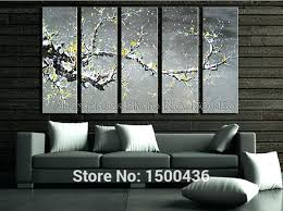 yellow and gray painting yellow and gray canvas wall art doubtful 5 piece tree oil painting on 5 piece canvas wall art trees with yellow and gray painting yellow and gray canvas wall art doubtful 5