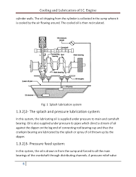 cooling and lubrication of engine report 6