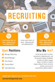 Recruitment Brochure Template 190 Recruitment Customizable Design Templates Postermywall