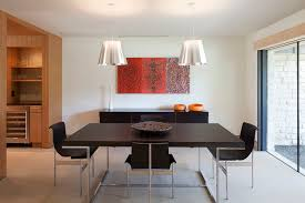 modern dining room by webber studio architects
