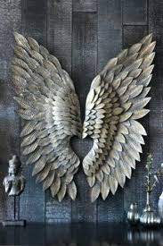 angel wings wall hanging gilt metal feather effect large wooden angel wings wall hanging large home decor